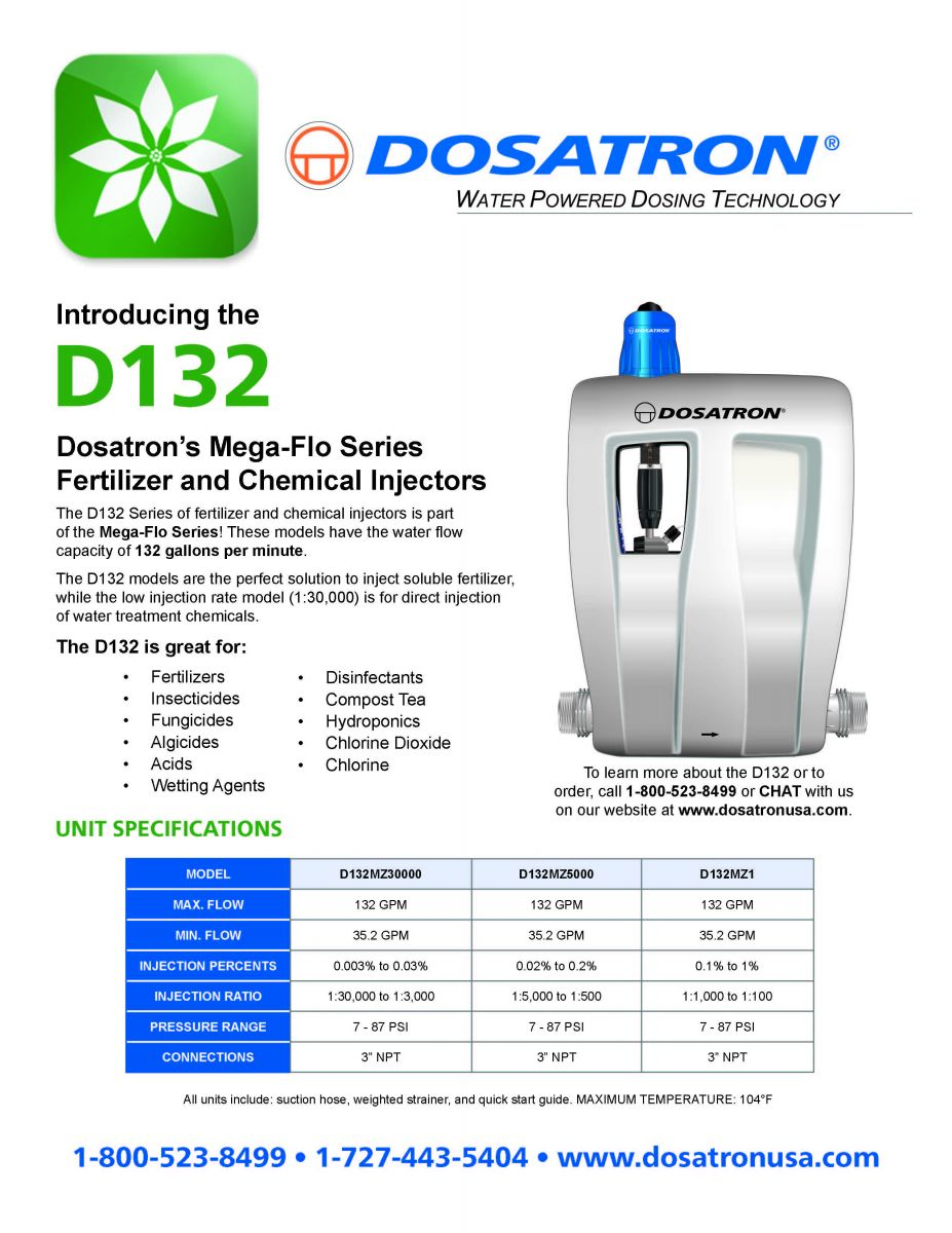 D132 Mega-Flo Irrigation Flyer