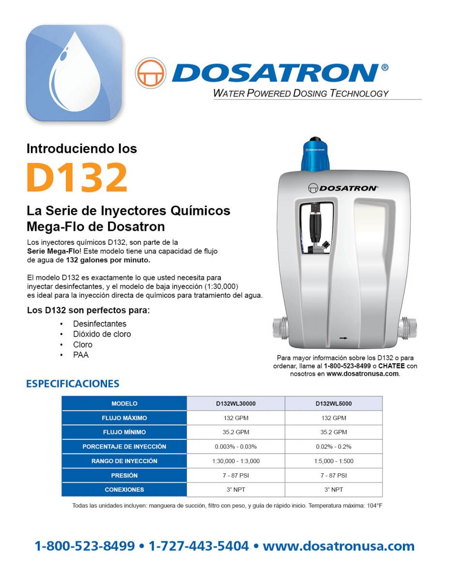 D132 Water Treatment Flyer