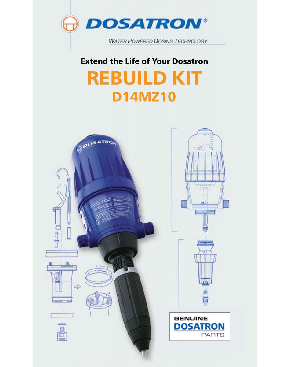 Rebuild Kit Instructions - Part # MKD14MZ10 for Units D14MZ10AF, VF, VAF, and VVF