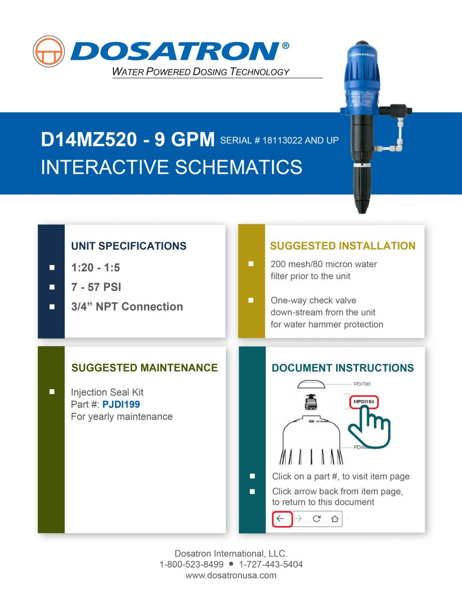 Interactive Schematics (Serial Numbers 18113022 and up)