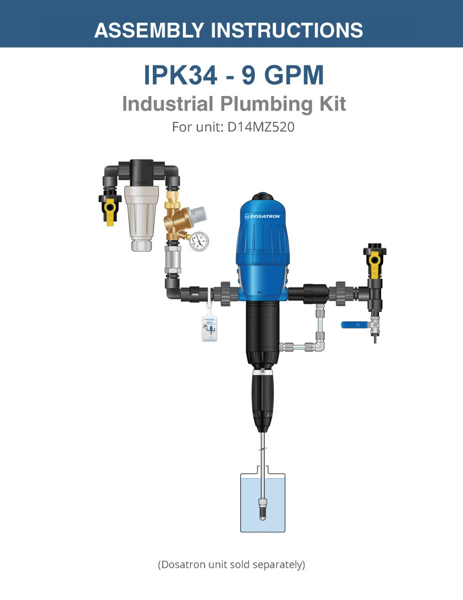 Industrial Plumbing Kit Assembly Instructions