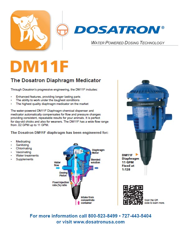 DM11F - 11 GPM Diaphragm Medicator flyer